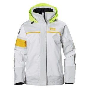 Helly Hansen Sport Sailing Rain Jacket White NWT S